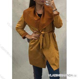 Kabát broušená koženka dámský (uni s/m) ITALSKÁ MÓDA IM619035