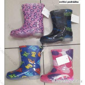 Holinky gumáky se svítící podrážkou dětské dívčí i chlapecké (24-29) FSHOES OBUV OBF19YJ509