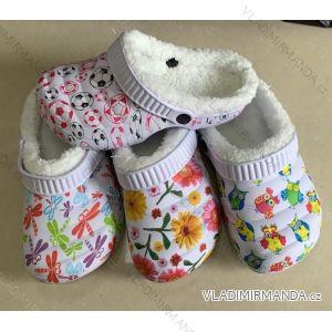 Pantofle kroksy nazouváky  zateplené dětské dorost (30-35) RISTAR RIS19865-5