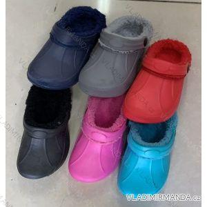 Pantofle kroksy nazouváky zateplené dětské (24-29) RISTAR RIS191302cc