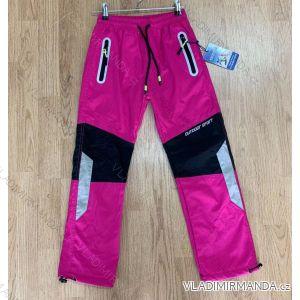Kalhoty šusťákové zateplené flaušem dětské dorost dívčí (116-146) SEZON SF-1818