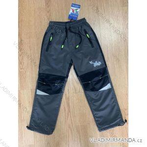 Kalhoty šusťákové zateplené flaušem dětské chlapecké (98-128) SEZON SF-1815