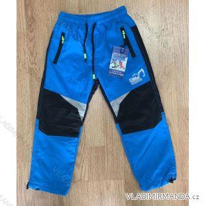 Kalhoty šusťákové zateplené flaušem kojenecké dětské chlapecké dívčí (80-110) SEZON SF-1812