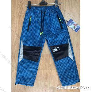 Kalhoty outdoor manžestrové zateplené flaušem dětské dívčí i chlapecké (98-128) SEZON SF-1861