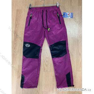 Kalhoty outdoor manžestrové zateplené flaušem dětské dorost dívčí (116-146) SEZON SF-1862