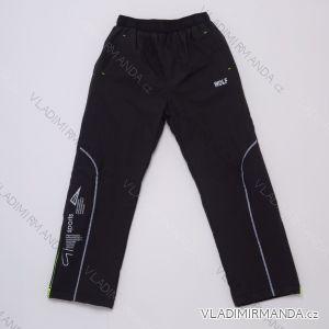 Kalhoty šusťákové zateplené flaušem dětské dívčí a chlapecké (98-128) WOLF B2974