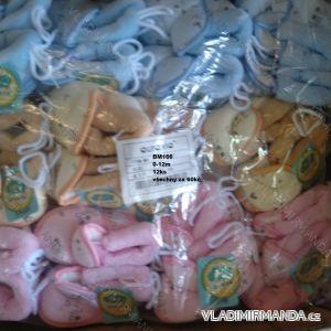 Capáčky botičky papučky kojenecké dívčí a chlapecké  (0-12m) AURA.VIA BM166