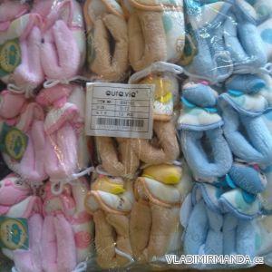 Capáčky botičky papučky kojenecké dívčí a chlapecké (0-12m) AURA.VIA BM163