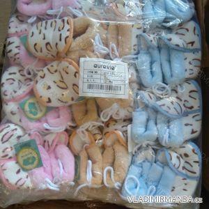 Capáčky botičky papučky kojenecké dívčí a chlapecké (0-12m) AURA.VIA BM165