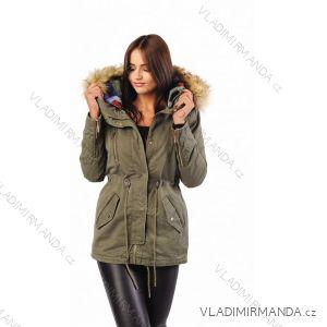 Kabát zimní s kožíškem dámský prošívaný (s-m-l) MFASHION MF19B1512