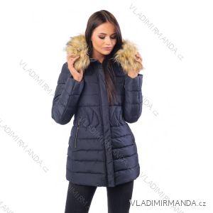 Kabát zimní s kožíškem dámský prošívaný (s-m-l-xl) MFASHION MF18M-205A