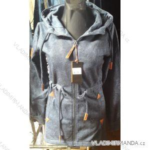 Mikina s kapucou prodloužená dámská (m-3xl) D.T.Fashion DTF19004