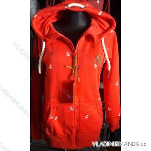 Mikina s kapucou prodloužená dámská (m-3xl) D.T.Fashion DTF19008