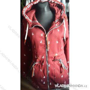 Mikina s kapucou prodloužená dámská (m-3xl) D.T.Fashion DTF19010