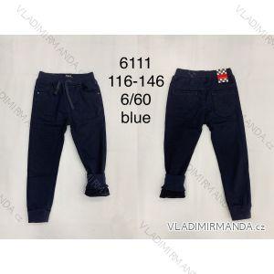 Kalhoty rifle jeans dlouhé zateplené flaušem dětské dorost chlapecké (116-146) FAD FAD196111