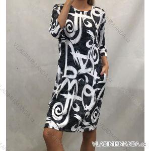 Šaty klasik dámské nadrozměrné (L-3XL) POLSKÁ MÓDA PM519056