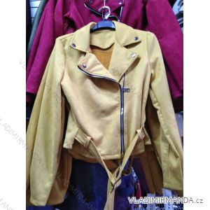 Bunda broušená koženka dámská (s-xl) italská moda IM9191037