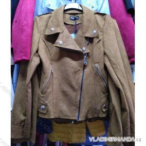 Bunda broušená koženka dámská (s-xl) italská moda IM9191038