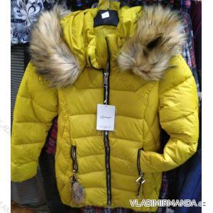 Bunda zimní s kapucí a kožíškem dámská (S-2XL) POLSKÁ MÓDA PM219036