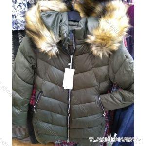 Bunda zimní s kapucí a kožíškem dámská (S-2XL) POLSKÁ MÓDA PM219037