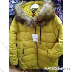 Bunda zimní s kapucí a kožíškem dámská (S-2XL) POLSKÁ MÓDA PM219038