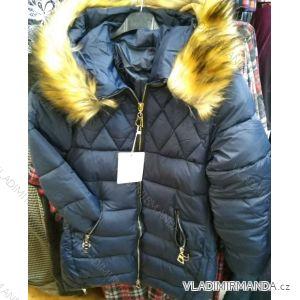 Bunda zimní s kapucí a kožíškem dámská (S-2XL) POLSKÁ MÓDA PM219040
