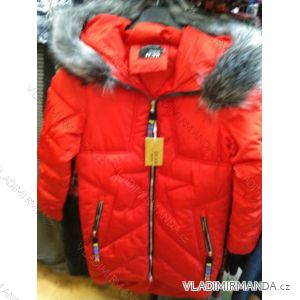 Bunda zimní s kapucí a kožíškem dámská (S-2XL) POLSKÁ MÓDA PM219041