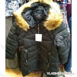 Bunda zimní s kapucí a kožíškem dámská nadrozměrná (XL-4XL) POLSKÁ MÓDA PM219042