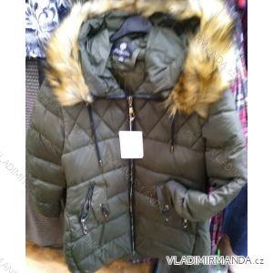 Bunda zimní s kapucí a kožíškem dámská nadrozměrná (XL-4XL) POLSKÁ MÓDA PM219043