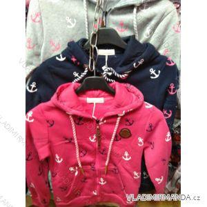 Mikina na zip s kapucí dorost dívčí (134-164) HKD HKD191038