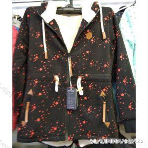 Mikina na zip prodloužená zateplená kožíškem dámská (L-3XL) BENHAO BEN19BH19-F30-269R