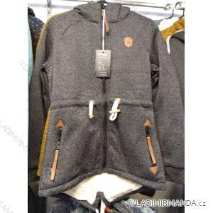 Mikina na zip prodloužená zateplená kožíškem dámská (L-3XL) BENHAO BEN19BH19-F30-274R