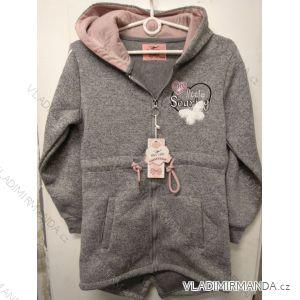 Mikina na zip s kapucí dorost dívčí (134-164) HAS A-1180B