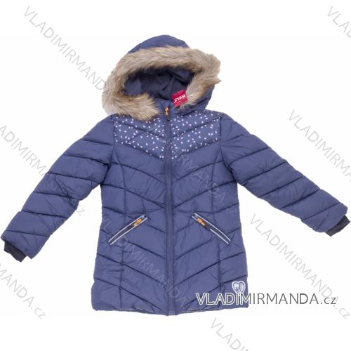 Bunda kabát zimní dětský dorost dívčí (116-146) WOLF B2968