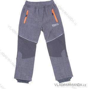 Kalhoty softshell zateplené flaušem dětské dívčí a chlapecké (98-128) WOLF B2996W