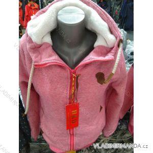 Mikina zateplená kožíškem na zip dámská nadrozměrná (M-3XL) HKD HKD19HKD-309