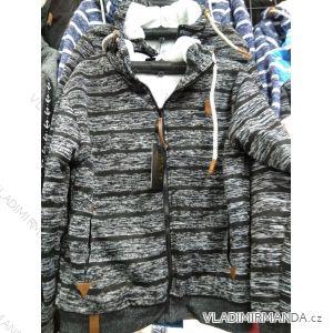 Mikina zateplená kožíškem na zip pánská nadrozměrná (L-4XL) HKD HKD19HKD-332