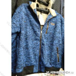 Mikina zateplená melírová na zip pánská nadrozměrná (L-4XL) HKD HKD19008