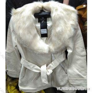 Kožený kabátek zimní s kožíškem dámský (S-2XL) MISS SISSY MA119MD2207