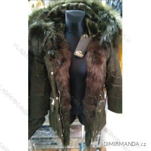 Kožený kabátek zimní s kožíškem dámský (S-2XL) MISS SISSY MA119Y2205