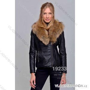 Kožená bunda zimní s kožíškem dámská (S-2XL) METROFIVE MET19002