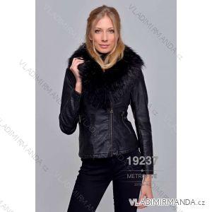 Kožená bunda zimní s kožíškem dámská (S-2XL) METROFIVE MET19003