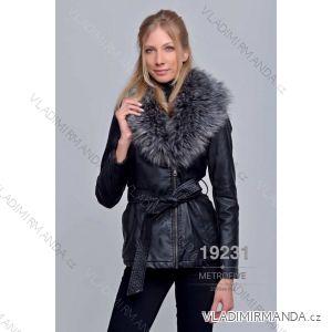 Kožený kabátek zimní s kožíškem dámský (S-2XL) METROFIVE MET19004