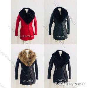 Kožený kabátek zimní s kožíškem dámský (S-2XL) METROFIVE MET19008