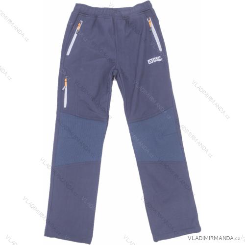 Kalhoty softshell zateplené flaušem dorost chlapecké (134-170) WOLF B2998