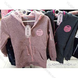 Mikina na zip s kapucí dorost dívčí (134-164) KE YI QI KEY19K-200