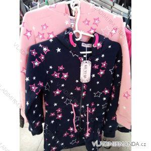 Mikina na zip s kapucí dorost dívčí (134-164) KE YI QI KEY19K-201