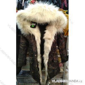 Bunda zimní s kapucí a kožešinou (s-m-l) italska MODA ma1192208