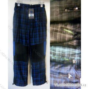Kalhoty outdoor bavlněné zateplené flaušem dětské a dorost chlapecké (122-158) BENHAO BH16-15-187B