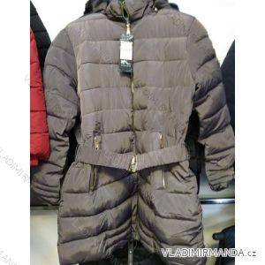 Bunda/kabát zimní prodloužená dámská nadrozměrná (L-4XL) WANG WNG191816BY